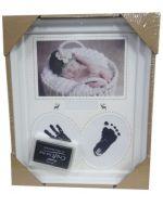 Cuadro Para Bebe Huellas de Manos y  Pies x 4 Unds. Medida: 22 x 27 cm Aprox.