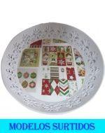Bandeja de Plástico Navideña x 12 Und.  Medidas : 39 x 39 x 8 cm Aprox.