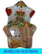 Bandeja de Plástico Navideña x 12 Und.  Medidas : 25 x 29 x 6 cm Aprox.