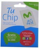 Chip Movistar 4G  x 12 Unds.