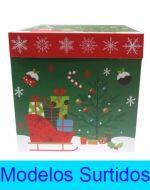 Caja de Regalo Navideña x 6 Unds. Medida: 22 x 22 x 22 cm.