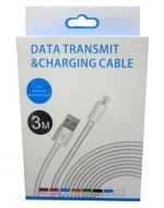 Cable USB Iphone x 6 Unds. Medida: 3 Metros. (Iphone 5 - 6 - 7)