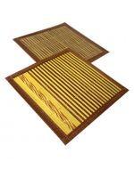Set Individual de Bambú de 18 x 18 cm x6 Set.