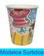 Vasos de Carton con Diseño x12 set. Medida: 7x9 cm Aprox.