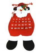 Adorno Navideño Calendario x4 Unds