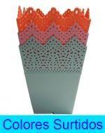 Maceta de Plástico  x6 unds. Medidas: 11x8 cm