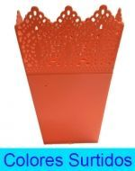 Maceta de Plástico  x6 unds. Medidas: 14x9 cm
