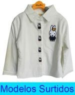 Camisa Niña Interior Piel con Diseño x4 unds.Tallas: 2 - 6