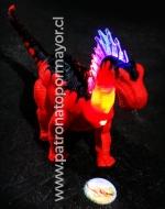Dinosaurio proyecta Luz, Sonido, Camina y Ruge x 4 Unds.