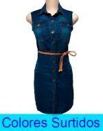 Vestido De Mesclilla  x6 Unds Talla: M-L-XL