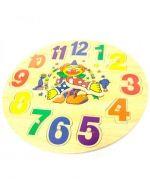 Reloj de Payaso x  4 Und. Medidas: 23 x 23 x 1.8 cm.