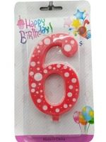 Vela de Cumpleaños x 10 Unds. Medida: 11 x 6 cm.