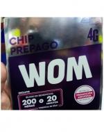 Chip Prepago Wom x 12 Unids.