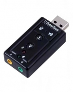 Adaptador USB Audio y Micrófono x 6 Unids.