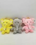 Peluches Elefante x 4 Unidades Colores Surtidos
