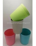 Papelera Plástico x 6 unds. Colores Surtidos