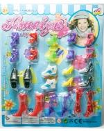 12 Set de Zapatos para Barbie