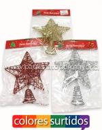 Estrella de Árbol Navideño x 12 Unidades Medidas: 18 x 23 cm Aprox.