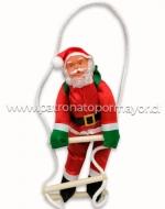 Santa Claus Navideño x 6 Unds. Medidas: 35 x 10 cm Aprox.