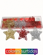 6 Set Estrella Navideña Medidas: 8.5 x 8.5 cm Aprox.