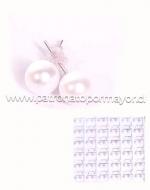 Caja de Aros de Perla 8 MM x 36 Pares
