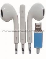 Audífonos Manos Libres Iphone x 6 Unids.
