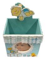 Cajita de Madera para Baby Shower x 12 Unds. Medidas: 8 x 6 x 8 cm. Aprox.