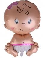 Globo Baby Girl x 12 Unds. Medidas 48 x 46 cm aprox.