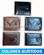 Billetera para Caballero x 12 Unds. Medidas: 10.5 x 13 cm