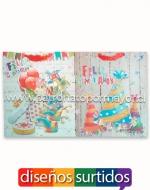 Bolsas de Regalo Cumpleaños 3D x 36 unds. Medidas: 30 x 12 x 40 cm