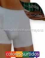 Boxer Cobre Bamboo Sin Costura x 12 Unds.  Tallas: S/M - L/XL - XL/XXL