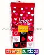 Cajas de Regalo Love x 12 unds. Medidas: 22 x 22 cm