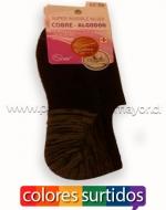 Calcetín Mujer Invisible  Cobre x1 Docena. Talla: 35-39