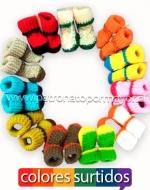 Pantuflas para bebés x 48 Pares Talla: 6 - 12 Meses