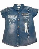 Camisa de Mezclilla Niño x 4 Unidades Talla: 4  - 10 Años