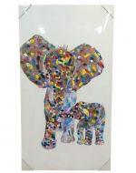 Cuadro Elefante x 4 Unds. Medida: 50 x 90 x 3 cm. Aprox.