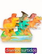 x6 Set Dino Carnívoro de Goma