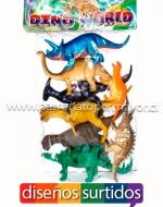 x6 Set Bolsa de Dinosaurios