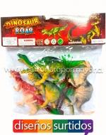 x6 Set Bolsa de Dinosaurios Chicos