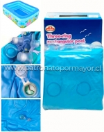 Piscina Inflable x 1 Unds. Medida: 210 x 150 x 60 cm Aprox