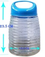 12 Frasco de Vidrio con Tapa Rosca Plastico. Medidas: 23.5 x 12.5 cm Aprox.