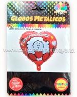 Globo Metálico Tienes mi corazón x6 Unidades
