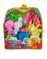 Bolsa con Muñecos ABC x 3 Unidades