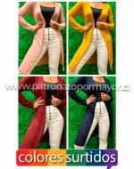Kimono Largo Mujer x 4 Unds. Talla: Standard