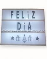 Letrero Feliz Día x6 Unds Medida: 20cmx20cm Aprox.