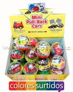 Mini coches de Retroceso x 24 Unidades
