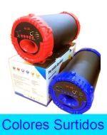 Parlante Bazooka con Bluetooth, USB, SD, Entrada AUX, y Bateria Recargable  x 3 Unds.