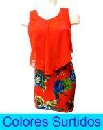 Mini Vestido de Dama  x 3 Unds. Tallas: S - M - XL