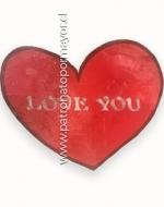 Panel decorativo de Fiesta Love You  x 6 Unds. Medida: 38cmx31cm