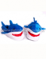Pantufla Tiburon x 4 Pares Talla: Pequeña